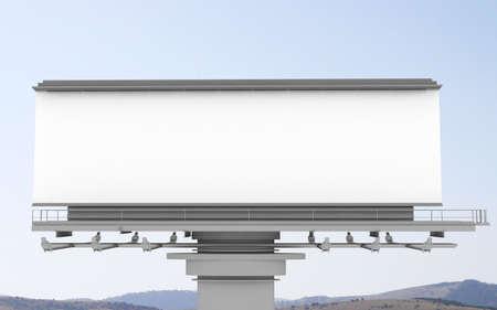Big empty billboard photo