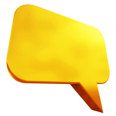 chat room: 3D Golden Chat Box