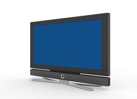 herz:  LCD screen TV  Stock Photo