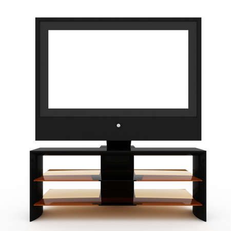 wideview:  LCD screen TV  Stock Photo