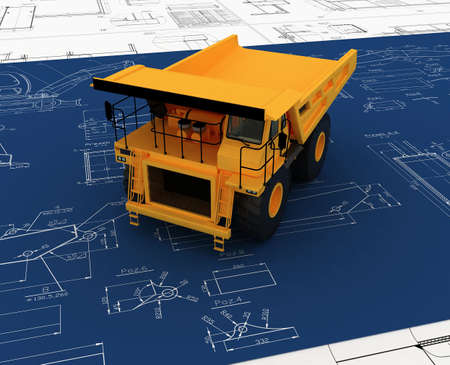 Yellow Dump and sketch Stock Photo - 5900817