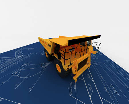 Yellow Dump and sketch Stock Photo - 5900790