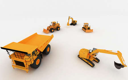 Yellow Loader and Yellow Dump Stock Photo - 5900763