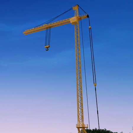 3D yellow crane Stock Photo - 5900850