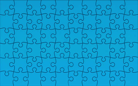 Jigsaw puzzle 10x6 Blue Stock Photo - 5900794