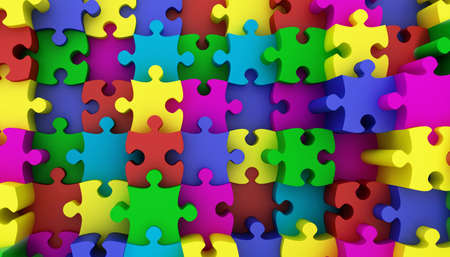 domination: Jigsaw puzzle Stock Photo