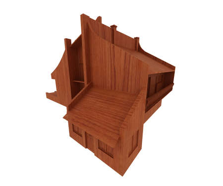 home addition: wooden house