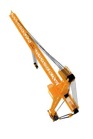 3D yellow crane Stock Photo - 5917145