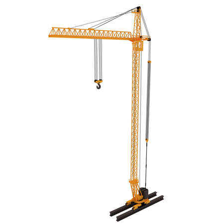 3D yellow crane Stock Photo - 5917241