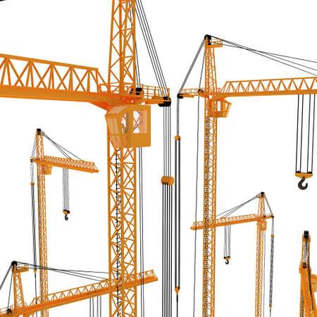 3D yellow crane Stock Photo - 5917385