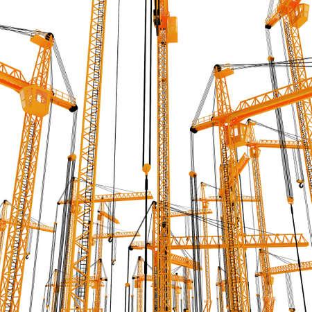3D yellow crane Stock Photo - 5917432