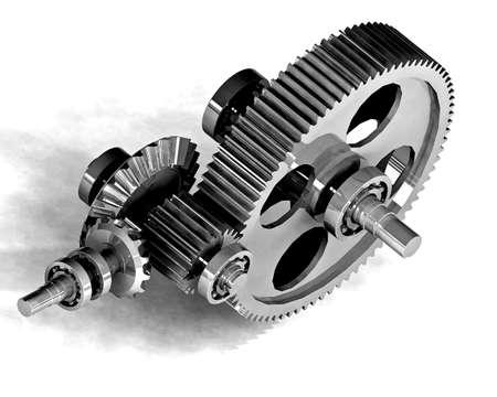 the pinion: mechanical metal gear