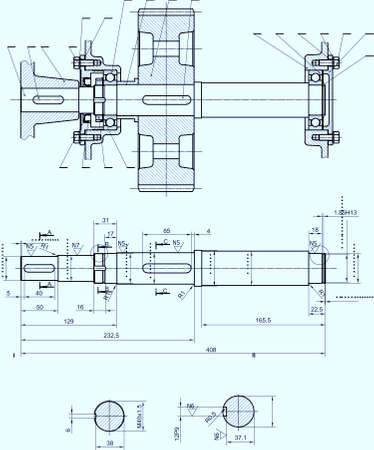 Beautiful transparent mechanical sketch vector