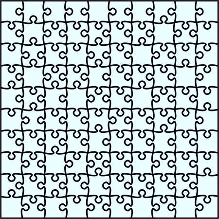 Beautiful transparent jigsaw puzzle vector Vector