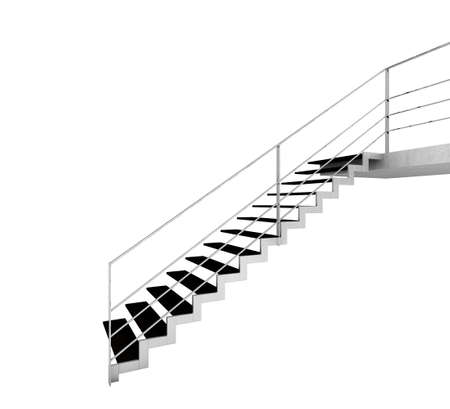 Modern stairway isolated on white photo