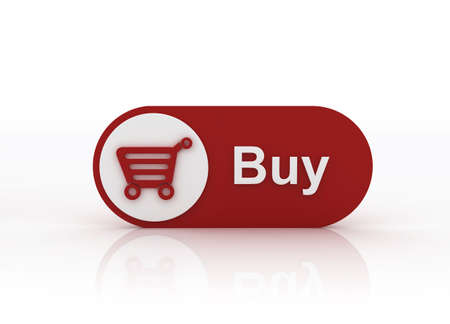 Buy now button with a shopping cart on white background Stock Photo - 6114286