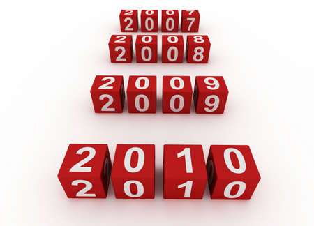 Red Cubes New Year 2010 Stock Photo - 6111406