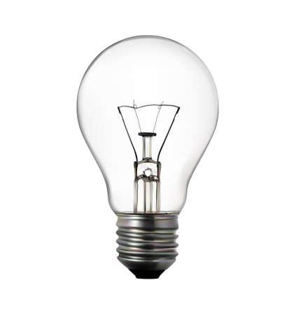 electric light: 3d render of light bulb on white