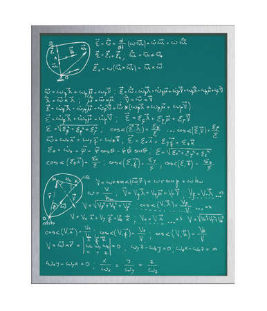 cosinus: Modern blackboard on white background