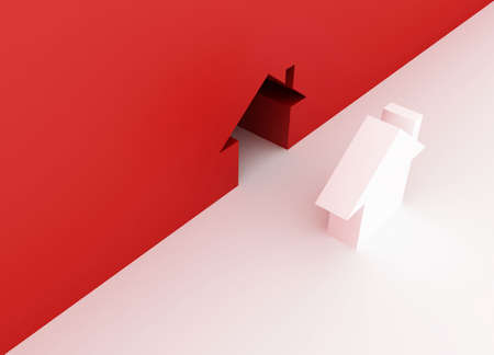 Fine 3d image metaphor of Red house sign Stock Photo - 6301563