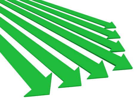 slew: Green arrows Stock Photo
