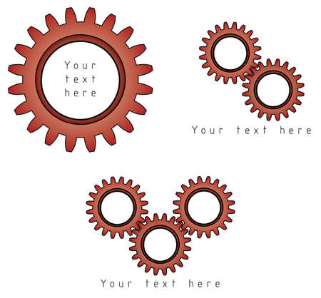 Gears symbol with place for your text photo