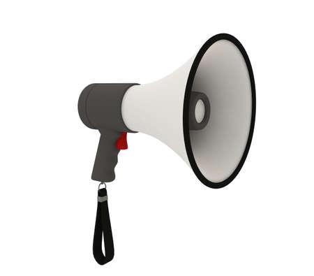 Isolated megaphone on white background Stock Photo - 6301572
