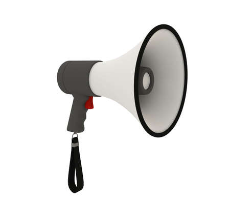 Isolated megaphone on white background Stock Photo - 6301572