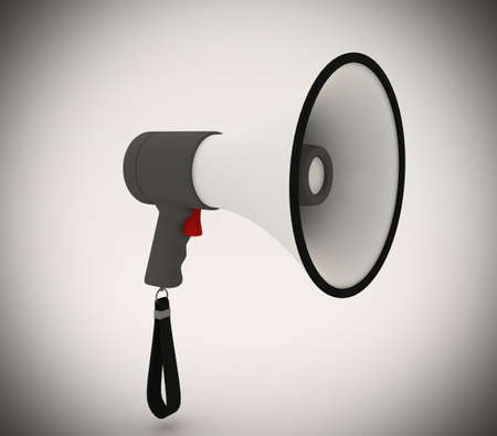 Isolated megaphone with studio lighting Stock Photo - 6301631