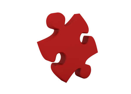 Beautiful Red Puzzle on white background. Large image Resolution Stock Photo - 6301530