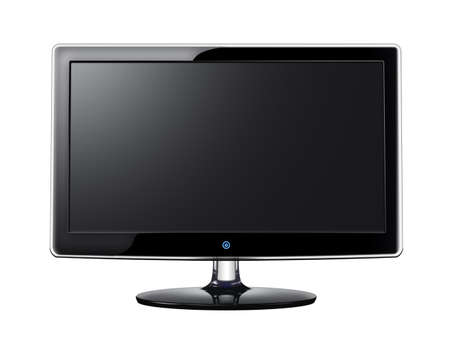lcd display: LCD screen with black display on white background Stock Photo