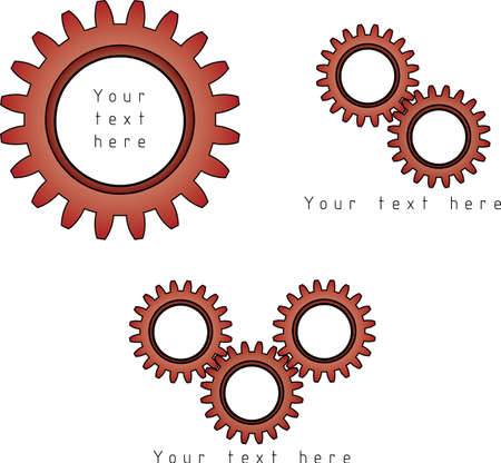 Vector gears symbol with place for your text Vector