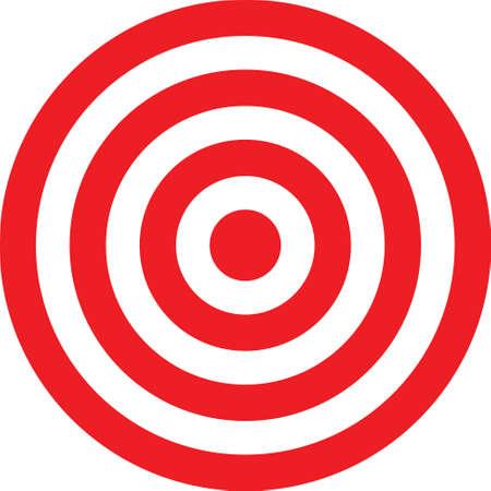 Illustration de cible transparent de vecteur. Mettre cette cible sur votre image. Vecteurs
