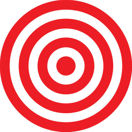 Vector transparent target illustration. Put this target on your image Vector