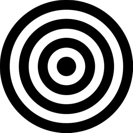fire circle: Vector transparent target illustration. Put this target on your image