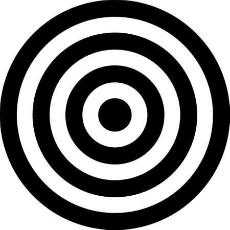 bullseye: Vektor transparent Ziel Illustration. Setzen Sie dieses Ziel auf dem Bild