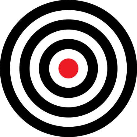 Transparante target vectorillustratie. Deze doelstelling zetten op uw imago