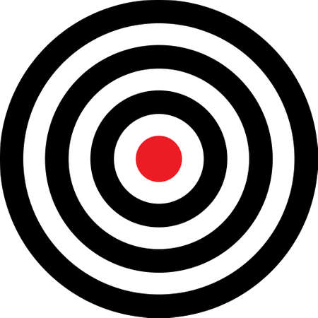 put: Vector transparent target illustration. Put this target on your image