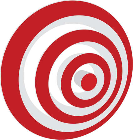 Vector transparent target illustration. Put this target on your image Stock Vector - 6301712