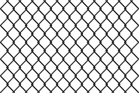 Chainlink fence Vector with reflection Stock Vector - 6301808