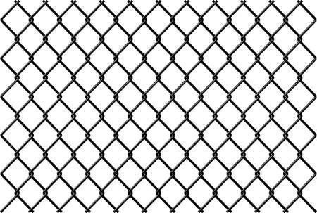 Vecteur de clôture chainlink avec la réflexion