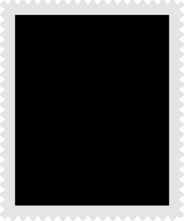 postage stamp: A blank stamp templates ready to be filled with your photos