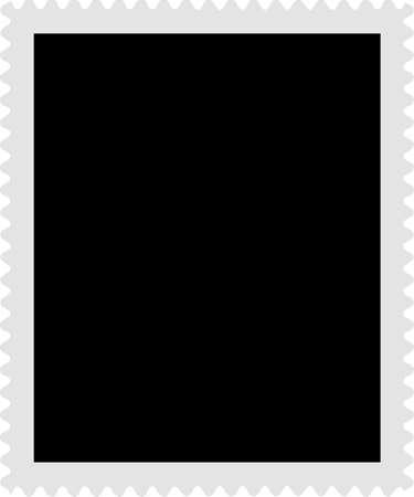 sello postal: Un sello en blanco las plantillas listo para rellenar con tus fotos  Vectores