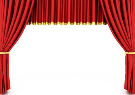 cortinas rojas: Cortina de la red de teatro