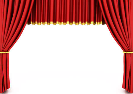 classical theater: Red theater curtain