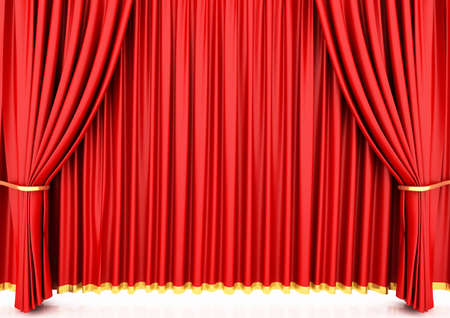 red curtain: Red theater curtain