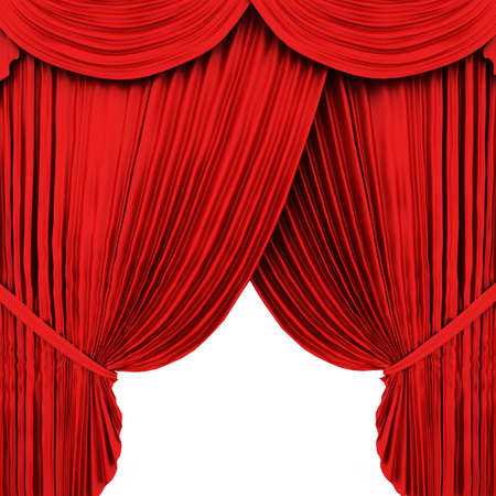 Red theater curtain Stock Photo - 6490840