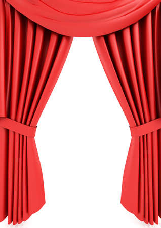 Red theater curtain Stock Photo - 6490843