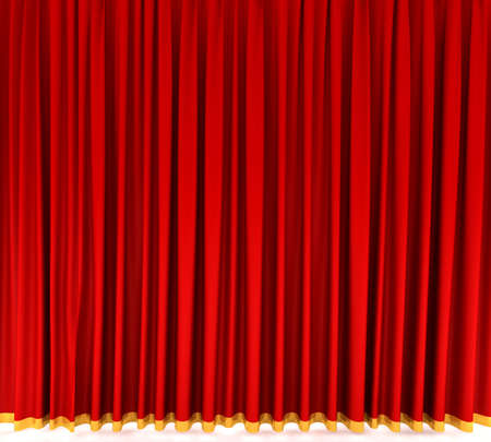 Red theater curtain Stock Photo - 6490823
