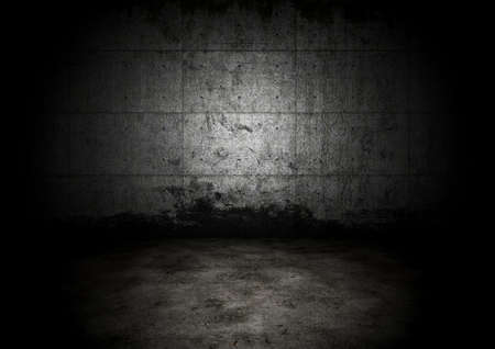An empty dark dungeon wall. Historical prison wall concept photo